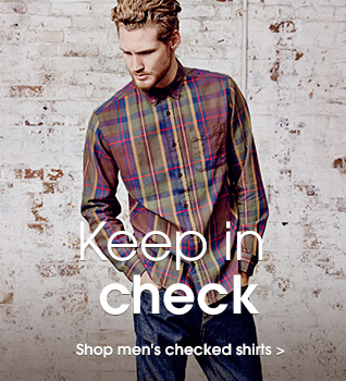 Keep in check. Shop men's checked shirts.