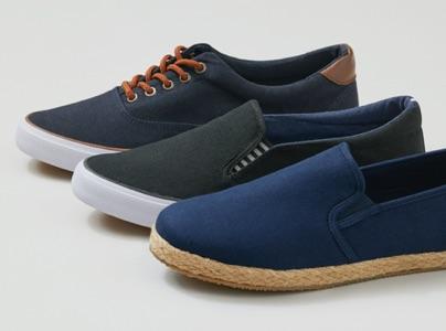 Black Mens Canvas Casual Shoes//Plimsolls colour Navy Brown,Khaki Size 6 to 11