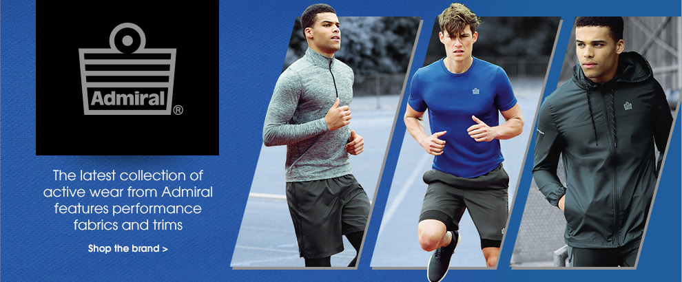 Admiral. The latest collection of activewear from Admiral features performance fabrics and trims. Shop the brand.
