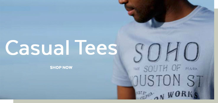 Casual Tees. Shop now.