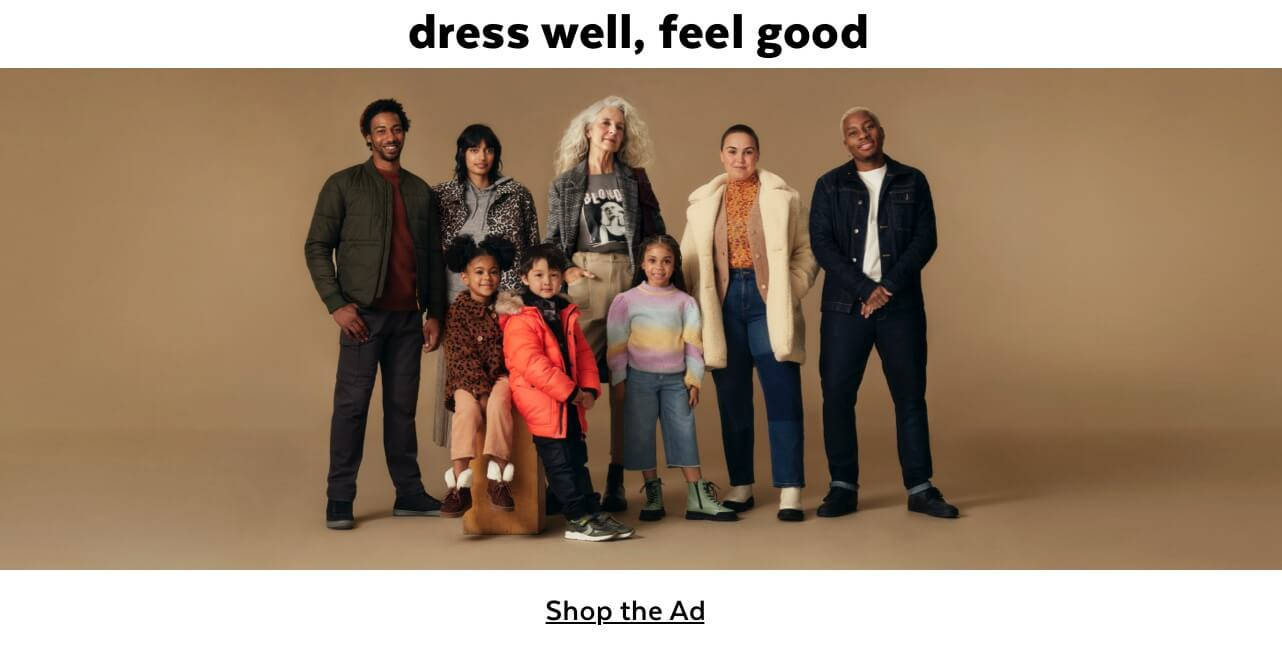 Dress well. feel good