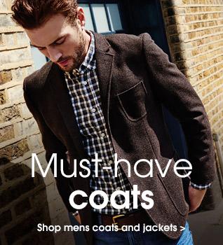 Must-have coats. Shop mens coats and jackets