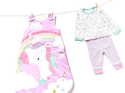 Baby Girl Sleepsuits & Nightwear