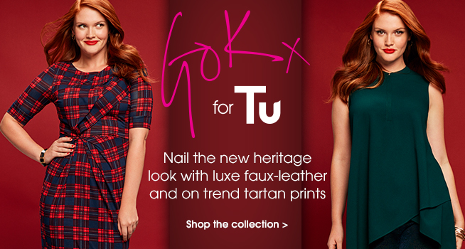 Gok for Tu. Nail the new heritage look with luce faux-leather and on trend tartan prints. Shop the collection.