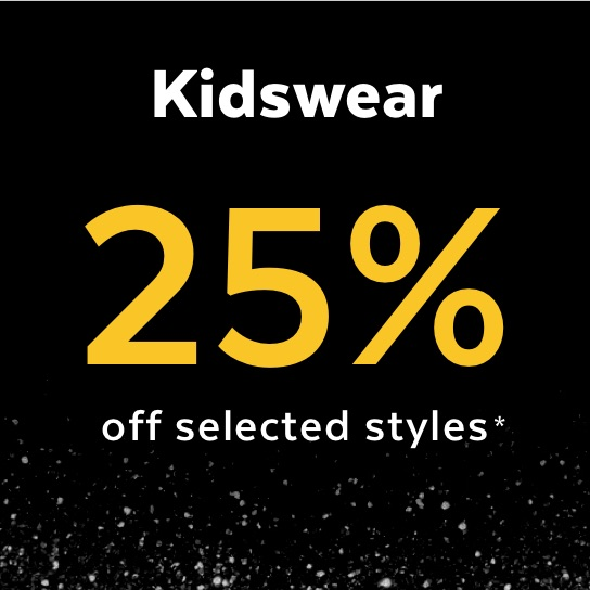 Black Friday - 25% off selected kidswear