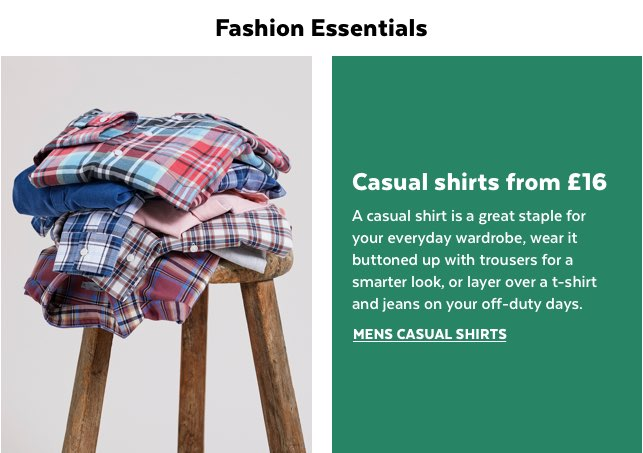 Mens Casual Shirts from £16