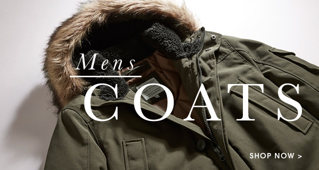 Mens Coats. Shop now.