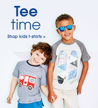 Tee time. Shop kids t-shirts.