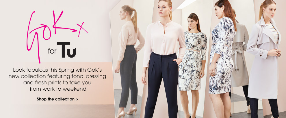 Gok for tu. Look fabulous this Spring wiht Gok's new collection featuring tonal dressing and fresh prints to take you from work to weekend. Shop the collection.