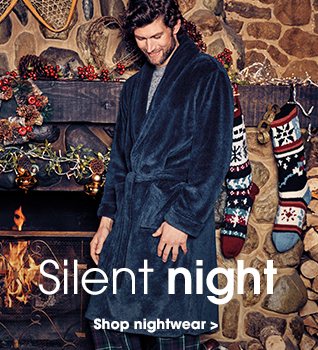 Silent night. Shop nightwear.