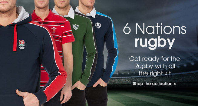 Rugby 6 nations. Get ready for the rugby wiht all the right kit. Shop the collection