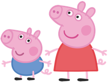Peppa Pig and George