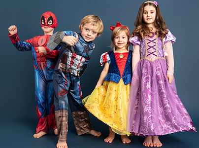 4 Person Halloween Costumes Girls.Childrens Dress Up