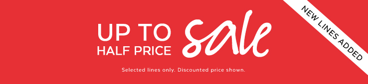Up to half price sale