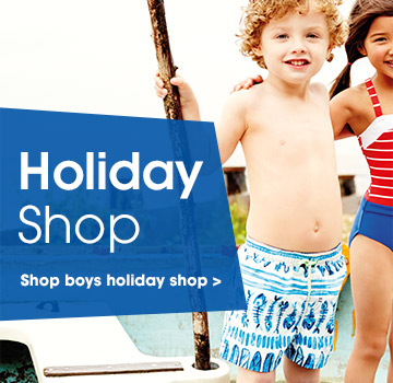 Holiday shop. Shop boys holiday shop