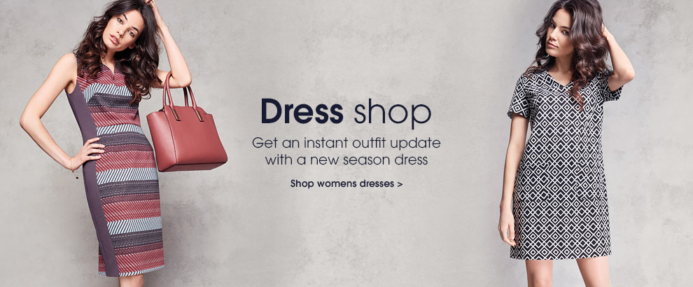 Dress shop. Get an instant outfit update with a new season dress. Shop womens dresses.