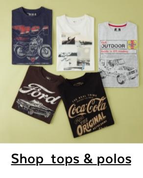 SHOP TOPS & POLOS
