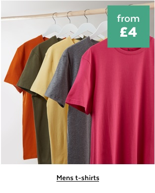 Mens t-shirts from £4