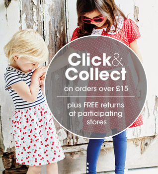 Free click and collect on orders above £15 at participtaing stores, click here for details