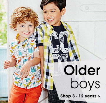 Older boys. Shop 3-12 years