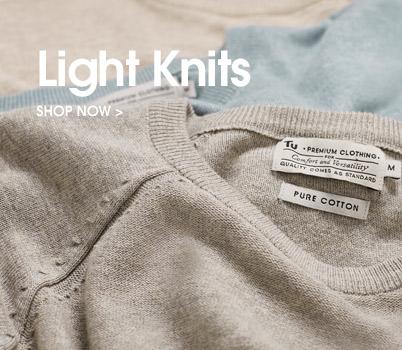 lightweight knits. shop now.