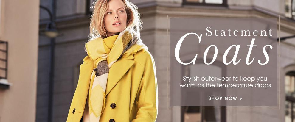 Statement coats. Shop now.