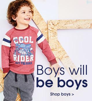 Boys will be boys. Shop boys.