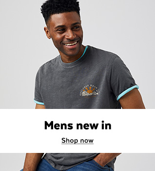 Mens new in. Shop Now.