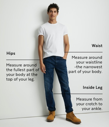 Mens denim size guide