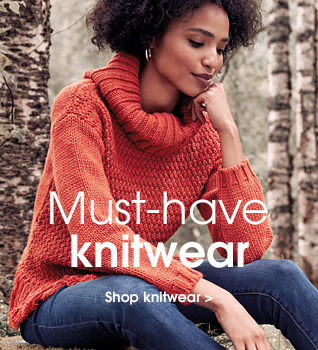 Must-have knitwear. Shop knitwear.