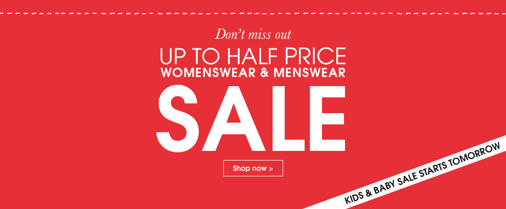 Up To Half Price Sale Shop Now