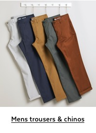 Mens trousers & chinos