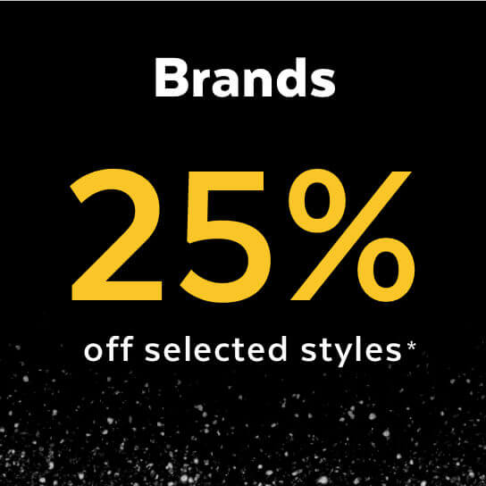Black Friday - 25% off selected Brands