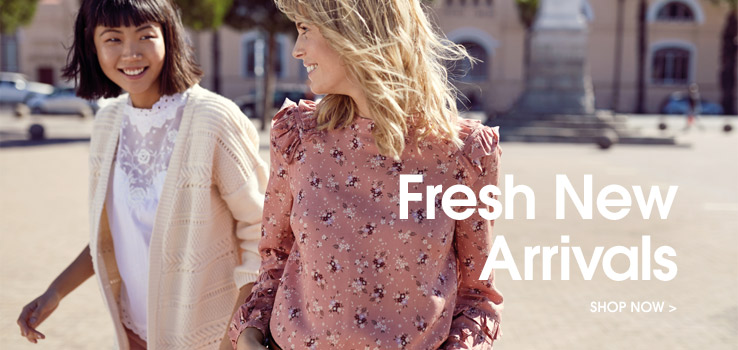 Fresh new arrivals. Shop now.