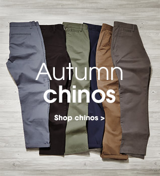 Autumn chinos. Shop chinos.