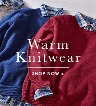 Warm knitwear. Shop now.