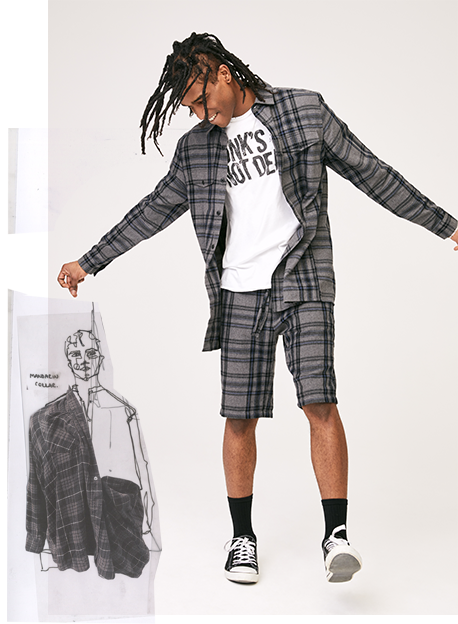 TU Mens Co-ord Jacket Shorts