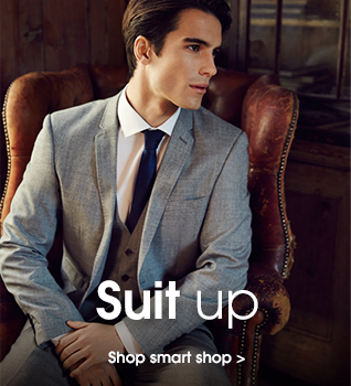 suit up. Shop smart shop.