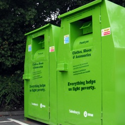 Oxfam clothing bins