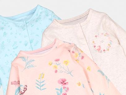 Baby Girl Sleepsuits & Nightwear