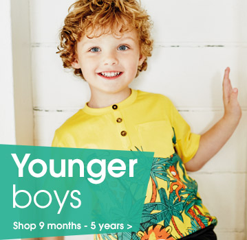 Younger boys. Shop 9 - 5 years.