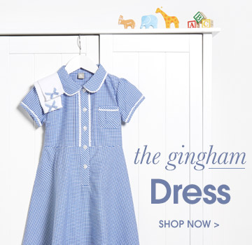 the gingham dress. shop now.
