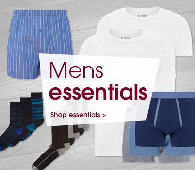 Men's essentials. Shop essentials