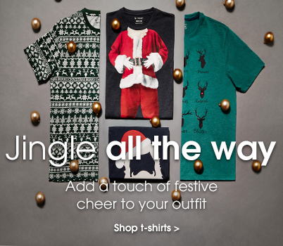 Jingle all the way. Add a touch of festive cheer to your outfit. Shop t-shirts.