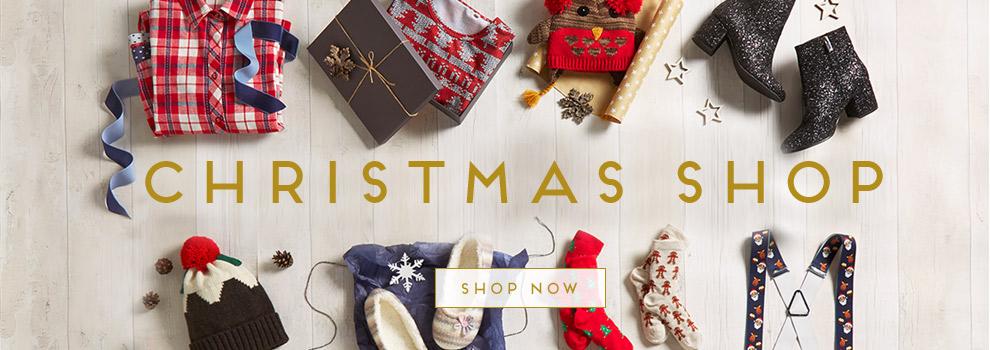 Christmas shop. Shop now.