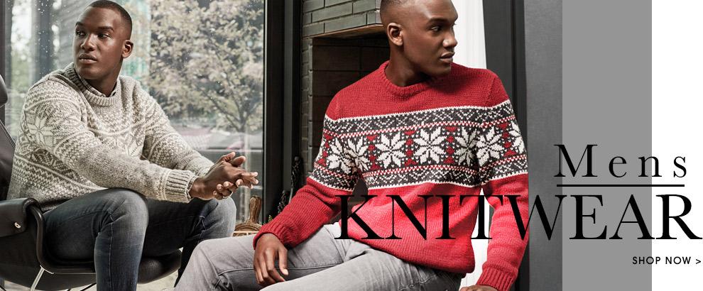 Mens Knitwear. Shop now.