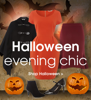 Halloween evening chic. Shop the look.