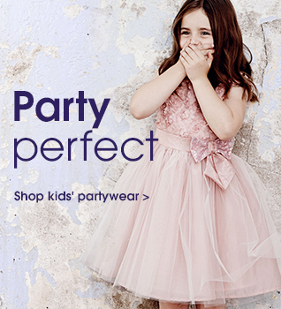 Party perfect. shop kids' partywear.