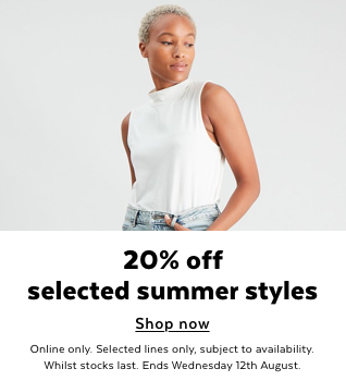 Womens 25% Off Selected styles. Shop Now.