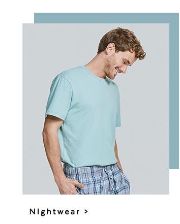 Men's nightwear. Shop now.